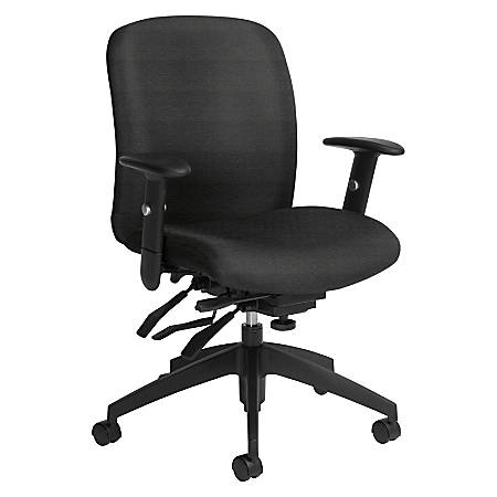 Global® Truform Multi-Tilter Chair, Mid-Back, Granite Rock/Black