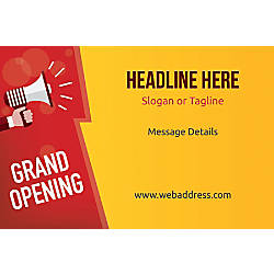 Adhesive Sign Grand Opening Announcement Horizontal