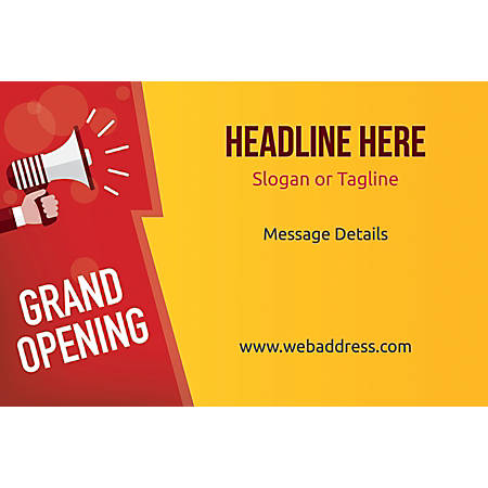 Adhesive Sign, Grand Opening Announcement, Horizontal