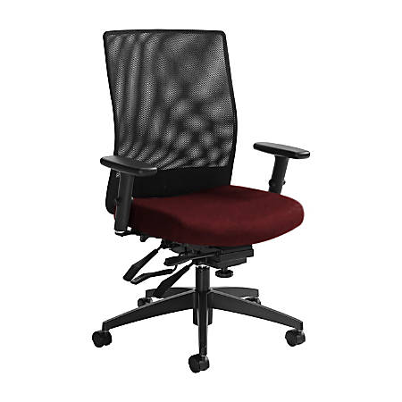 """Global® Weev Mid-Back Tilter Chair, 39""""H x 25""""W x 24""""D, Red Rose/Black"""