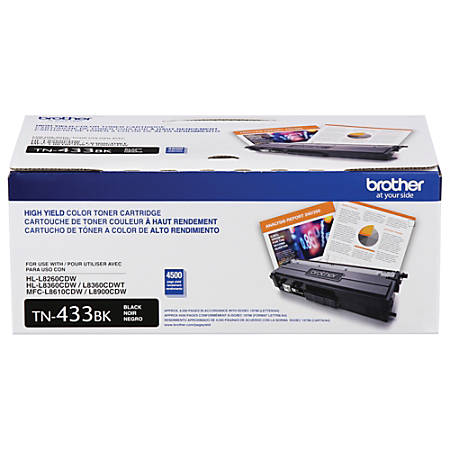 Brother® TN433BK High-Yield Black Toner Cartridge