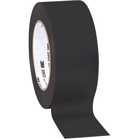 """3M™ 3903 Tartan™ Duct Tape, 3"""" Core, 2"""" x 50 Yd., Black, Case Of 3"""