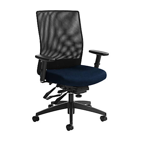 "Global® Weev Mid-Back Tilter Chair, 39""H x 25""W x 24""D, Blue Bayou/Black"
