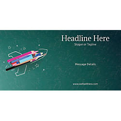 Custom Horizontal Banner Creative Rocket