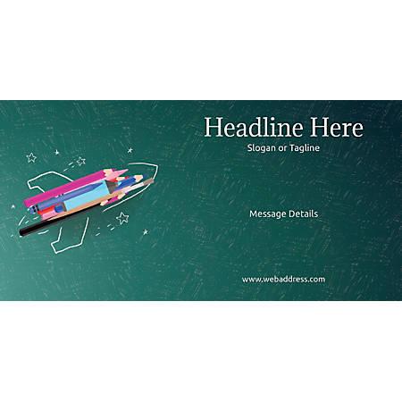 Custom Horizontal Banner, Creative Rocket