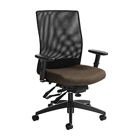 """Global® Weev Mid-Back Tilter Chair, 39""""H x 25""""W x 24""""D, Earth/Black"""