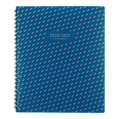 """AT-A-GLANCE® Elevation Academic Monthly Planner, 7"""" x 8-3/4"""", Blue, July 2020 to June 2021, 75127P20"""