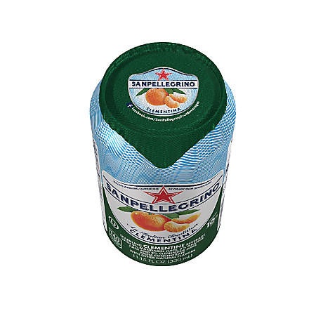 San Pellegrino® Italian Sparkling Fruit Beverage, 11.15 Oz, Clementine, Pack Of 12 Cans