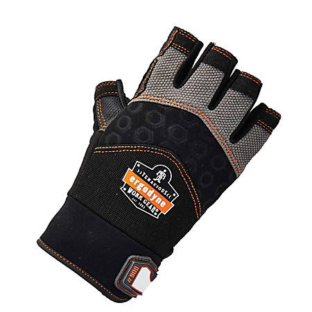 Ergodyne ProFlex 900 Half-Finger Impact Gloves, Medium, Black
