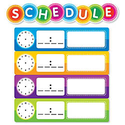 Color Your Classroom Schedule Mini Bulletin