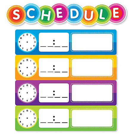 Color Your Classroom Schedule Mini Bulletin Board Set, Assorted Colors