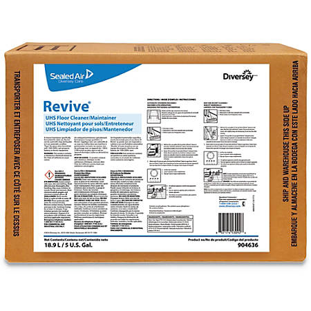Diversey™ Revive UHS Floor Cleaner/Maintainer, Sweet Scent, 5 Gallons