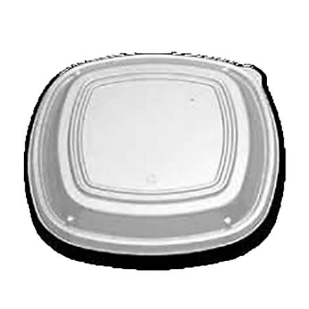 "Plastic Dome Lids For Plates, 9"" x 9"" x 1-3/16"", Clear, Pack Of 300 Lids"
