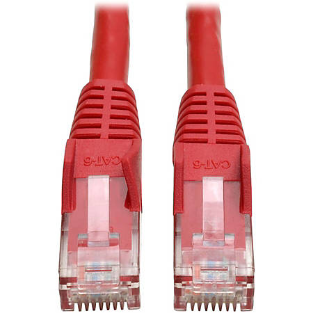 Tripp Lite 5ft Cat6 Gigabit Snagless Molded Patch Cable RJ45 M/M Red 5'