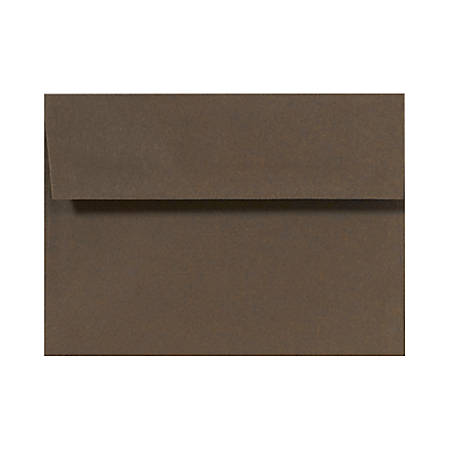 "LUX Invitation Envelopes With Peel & Press Closure, A7, 5 1/4"" x 7 1/4"", Chocolate Brown, Pack Of 500"