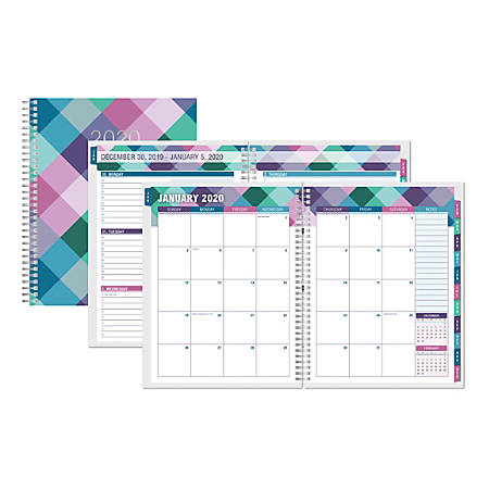 Office Depot® Brand Weekly/Monthly Planner, 8-1/2