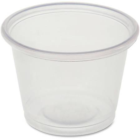 Genuine Joe Portion Cups - 1 fl oz - 2500 / Carton - Clear - Polystyrene - Beverage, Sauce