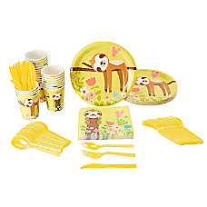 Disposable Dinnerware Set Serves 24 Cute