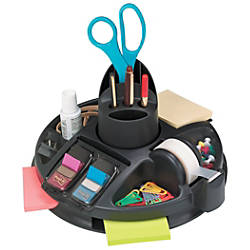Post it Rotary Desktop Organizer Black