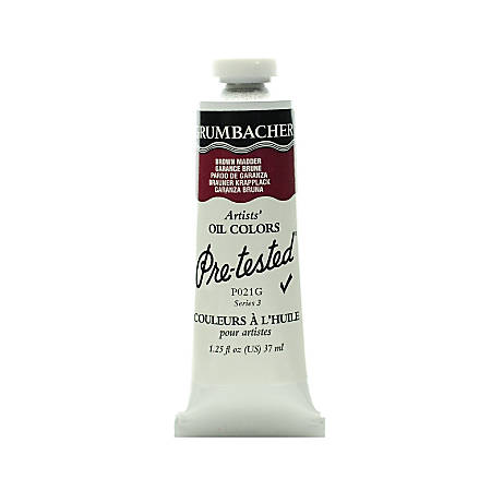 Grumbacher P021 Pre-Tested Artists' Oil Colors, 1.25 Oz, Brown Madder, Pack Of 2