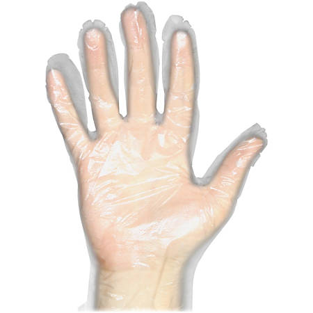 Protected Chef Disposable General Purpose Gloves - Large Size - Polyethylene - Clear - Disposable, Ambidextrous, Lightweight, Comfortable, Durable - For Food Handling, Multipurpose, Cleaning, Printing - 1000 / Box