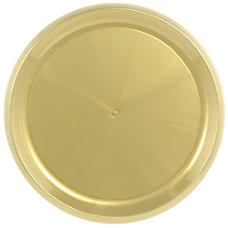 Amscan Round Plastic Platters 16 Gold