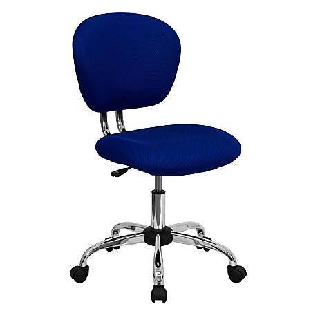 Flash Furniture Mesh Mid-Back Swivel Task Chair, Blue/Silver