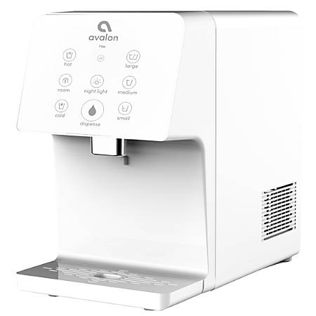 "Avalon Electric 3-Temperature Bottleless Hot/Cold Countertop Water Cooler, 16""H x10""W x 15 3/4""D, White"