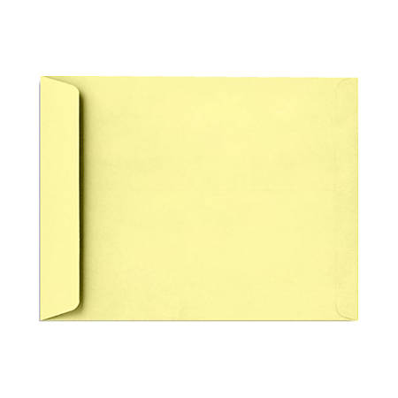 "LUX Open-End Envelopes With Peel & Press Closure, 9"" x 12"", Lemonade Yellow, Pack Of 500"