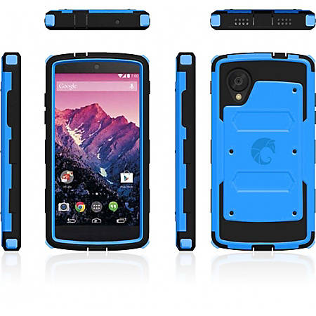 i-Blason Armorbox NEX5-ARMOR-BLUE Carrying Case Smartphone - Blue - Scratch Resistant Screen Protector, Dust Resistant Screen Protector, Shatter Resistant Screen Protector, Impact Resistance, Shock Absorbing - Polycarbonate, Thermoplastic Polyurethane
