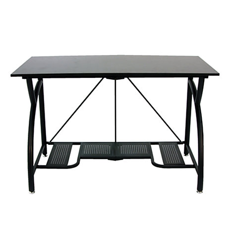 Origami Computer Desk Black By Office Depot Officemax