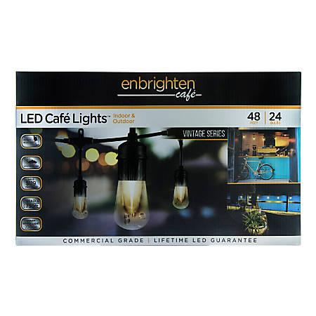 Enbrighten Vintage LED Café Lights, 48'
