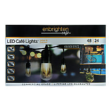 Enbrighten Vintage LED Caf Lights 48