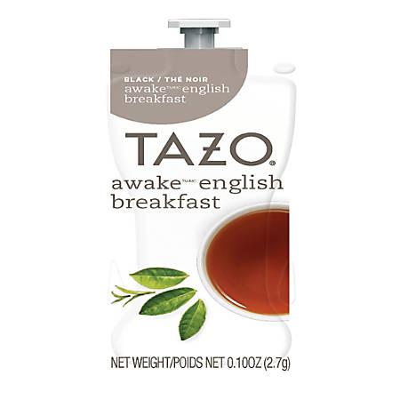 Tazo Awake English Breakfast Tea Single-Serve Cups, 0.1 Oz, Pack Of 80 Cups