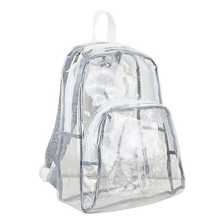 Eastsport Clear PVC Backpack, Pinstripe