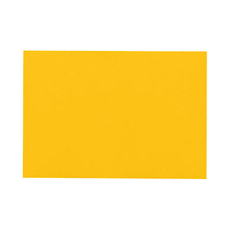 """LUX Mini Flat Cards, #17, 2 9/16"""" x 3 9/16"""", Sunflower Yellow, Pack Of 250"""