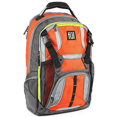 ful Hexar Laptop Backpack, Orange