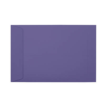 """LUX Open-End Envelopes With Moisture Closure, #6 1/2, 6"""" x 9"""", Wisteria, Pack Of 50"""