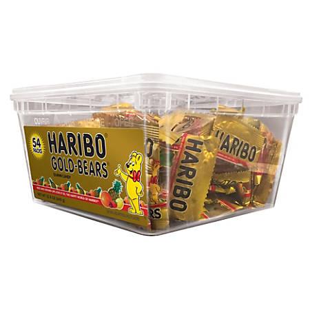 HARIBO Gold Bears, 22.8 Oz, Tub Of 54 Packs