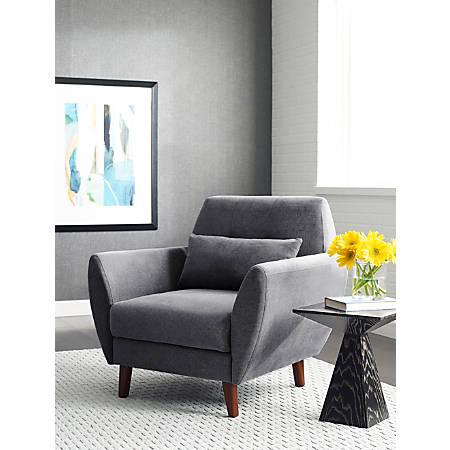 Serta Artesia Collection Arm Chair, Slate Gray/Chestnut