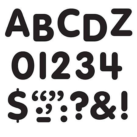 "TREND STICK-EZE® Stick-On Letters, 1"", Black, Pre-K - Grade 12, Pack Of 360"