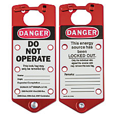 Labeled Lockout Hasps