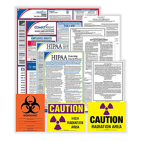 ComplyRight Federal/State Labor Law And Healthcare Poster Kit, English, California