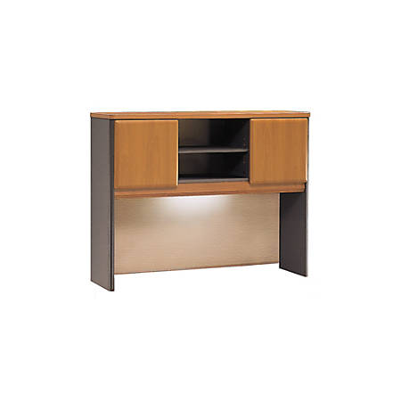 "Bush Business Furniture Office Advantage Hutch 48""W, Natural Cherry/Slate, Premium Installation"