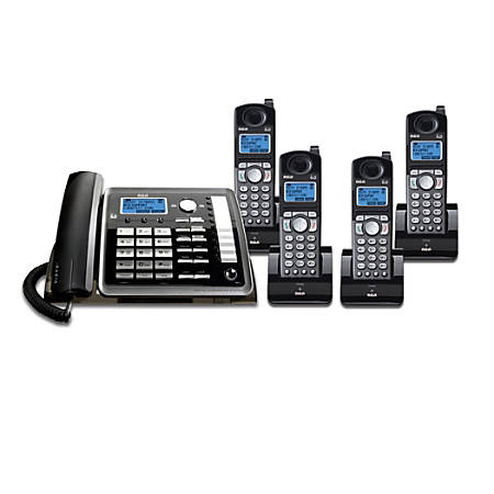 Telefield RCA DECT 6.0 2-Line Small Business System With Digital Answering System, RCA-1DSK4HSBNDL