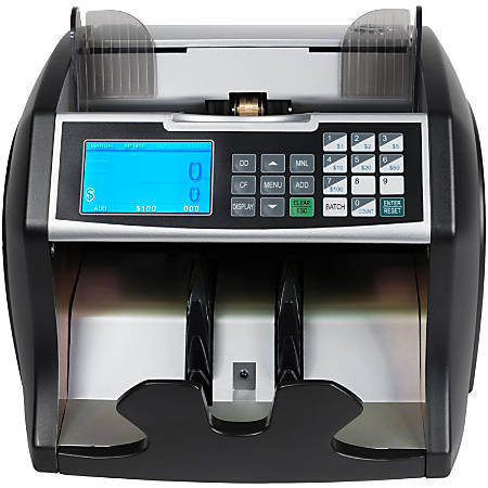 Royal Sovereign Front loading bill counter with counterfeit detection and value counting. 1400 bills/min and auto start/stop, batching 1 -999 bills, auto self test - RBC4500-Bill Counter-Value Counting-Counterfeit Detection UV/MG-1400 bills/min