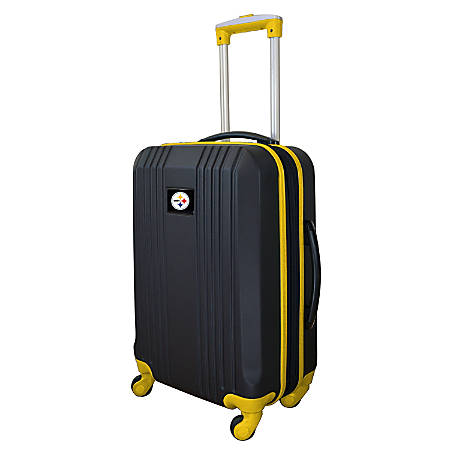 """Mojo L208 ABS Carry-On Hardcase Spinner, 21""""H x 14""""W x 9-1/2""""D, Pittsburgh Steelers, Black/Yellow"""