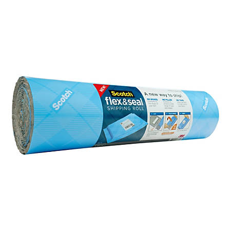 "Scotch® Flex & Seal Shipping Roll, 15"" x 10', Light Blue"
