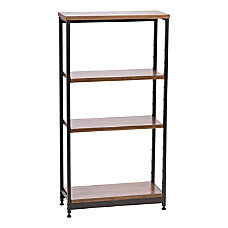 IRIS Tall Wood And Metal Shelf