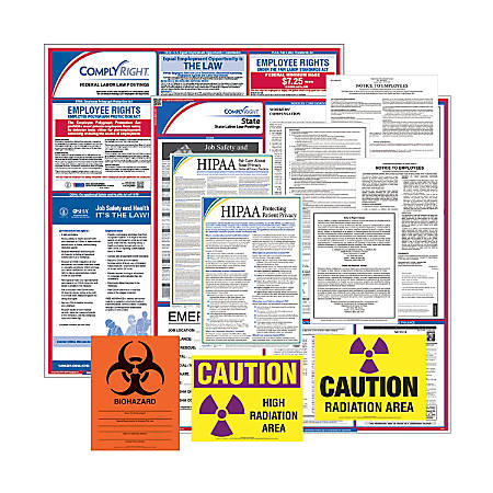 ComplyRight Federal/State Labor Law And Healthcare Poster Kit, English, Iowa